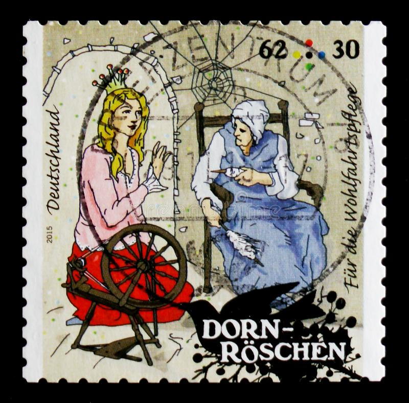 MOSCOW, RUSSIA - OCTOBER 21, 2017: A stamp printed in German Fed vector illustration