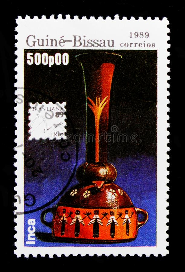International Philatelic Exhibition - 89 Brasiliana, serie, circa 1989 royalty free stock photography