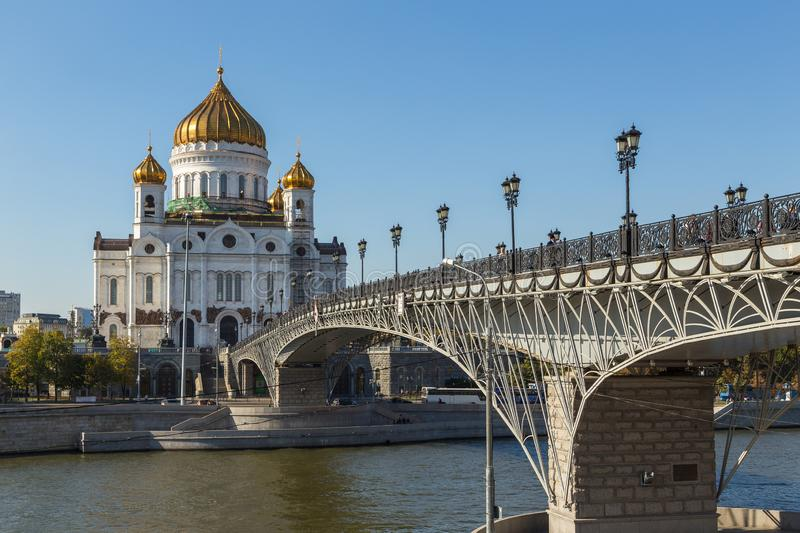 The Cathedral of Christ the Savior, Russian Orthodox cathedral in Moscow, Russia. royalty free stock image
