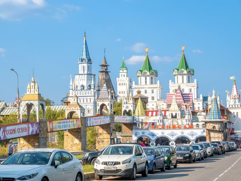 Izmailovsky market in Moscow, Russia stock photos