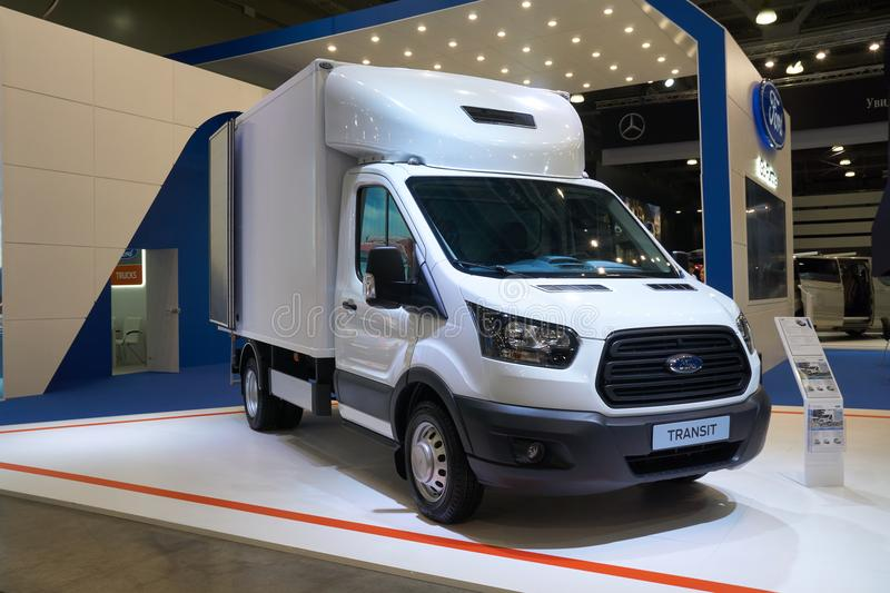 Ford Transit truck at auto show stock photos