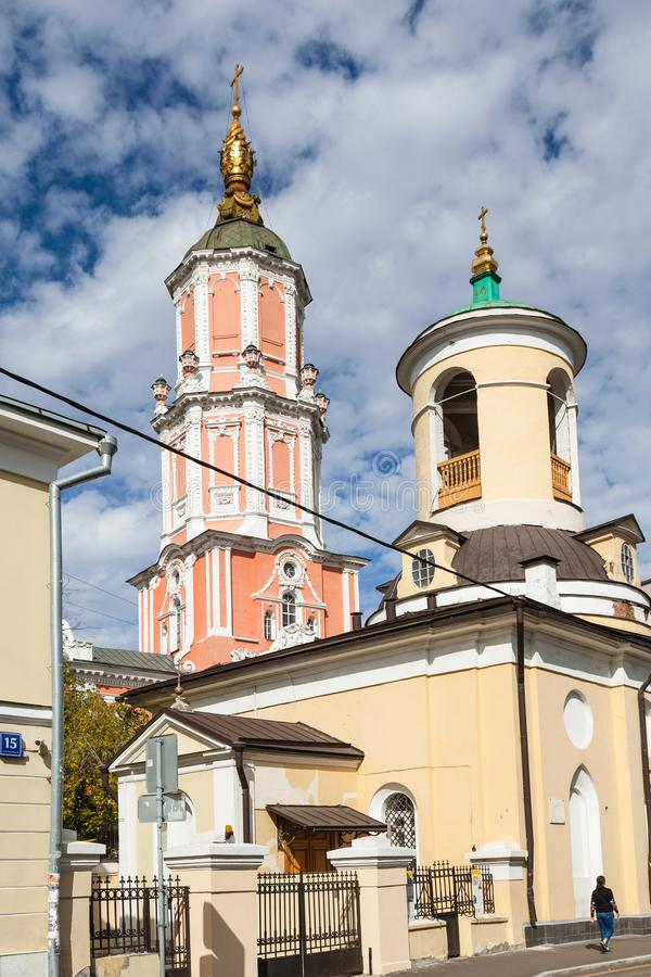 Theodore Stratelates Church in Moscow city stock photography