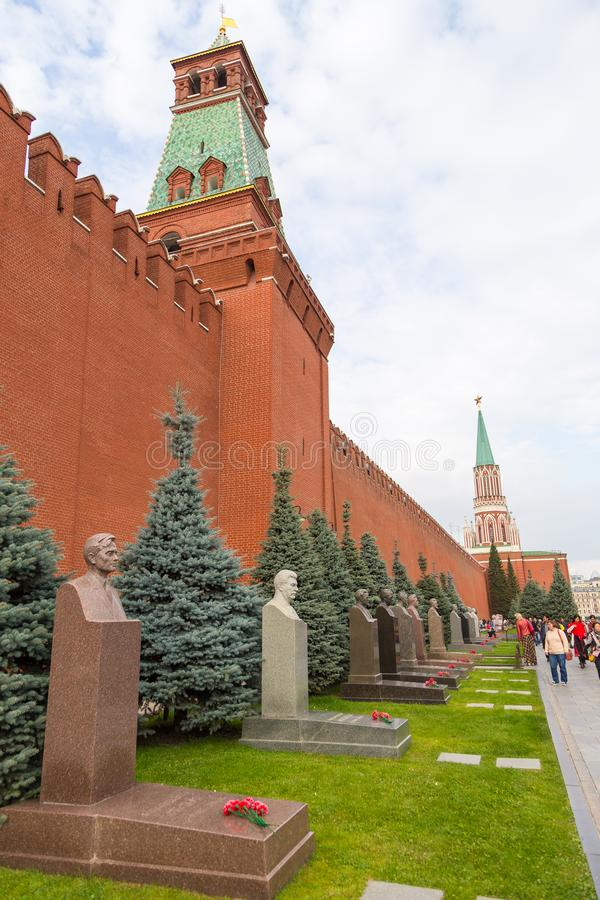 Monument to Joseph Vissarionovich Stalin on the street Korolenko on the Red Square, Moscow, Russia. royalty free stock images