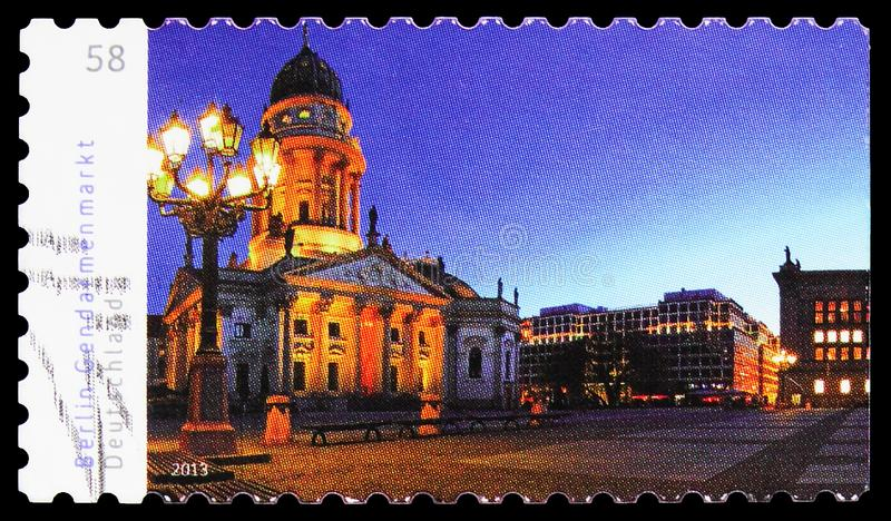 Postage stamp printed in Germany shows Gendarmenmarkt, Berlin,  Germany\'s Most Beautiful Panoramas serie, circa 2013. MOSCOW, RUSSIA - SEPTEMBER 23, 2019 royalty free stock photos
