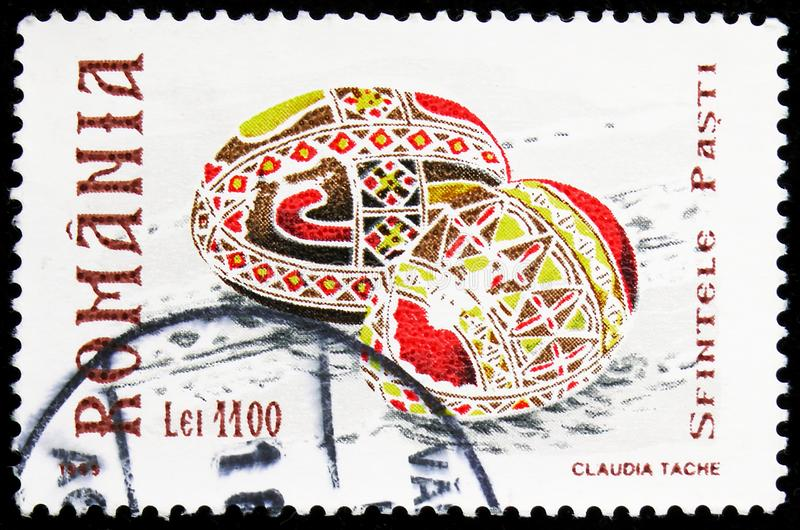Traditional Painted Easter Eggs, Easter serie, circa 1999 stock images