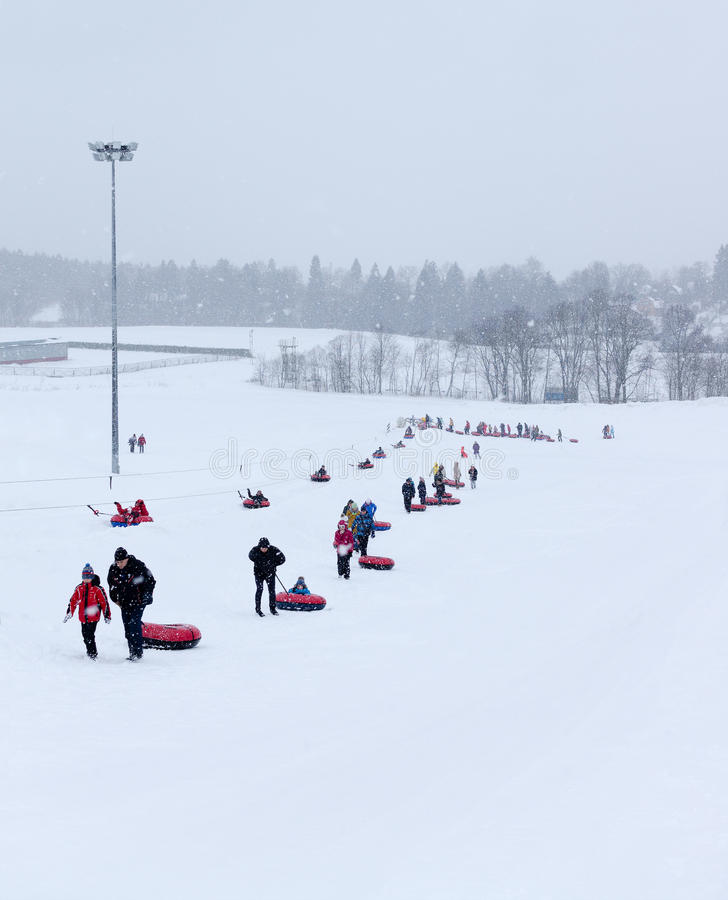 MOSCOW, RUSSIA: Ski club Leonid Tyagachev royalty free stock photo