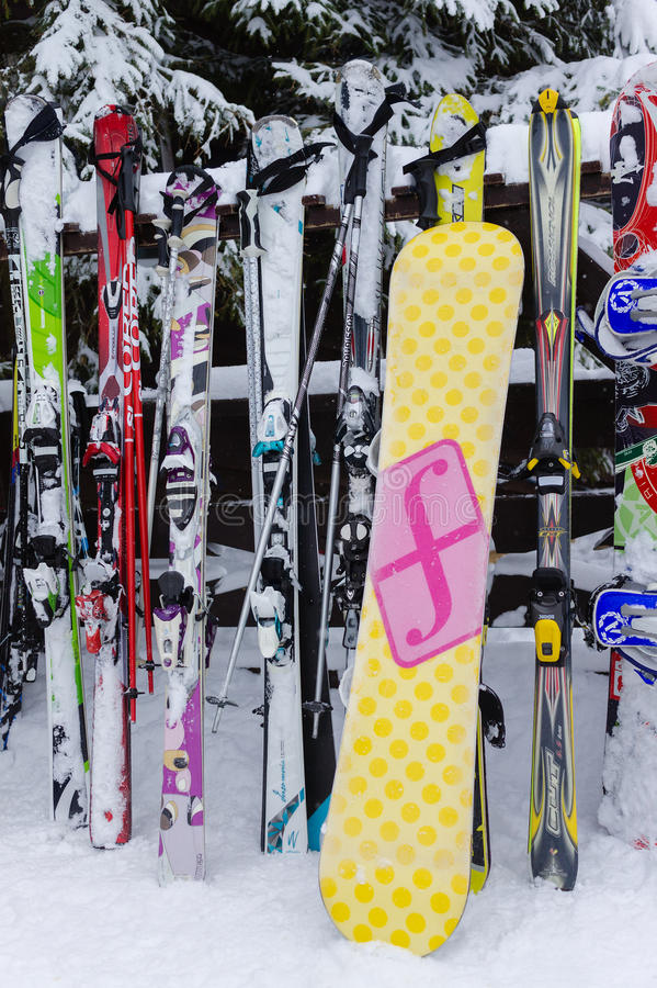 MOSCOW, RUSSIA: Ski club Leonid Tyagachev stock photo