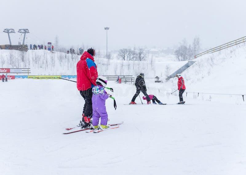 MOSCOW, RUSSIA: Ski club Leonid Tyagachev royalty free stock image