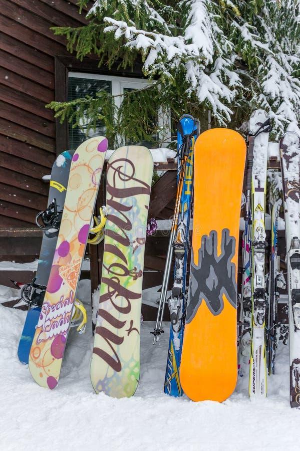 MOSCOW, RUSSIA: Ski club Leonid Tyagachev stock photography