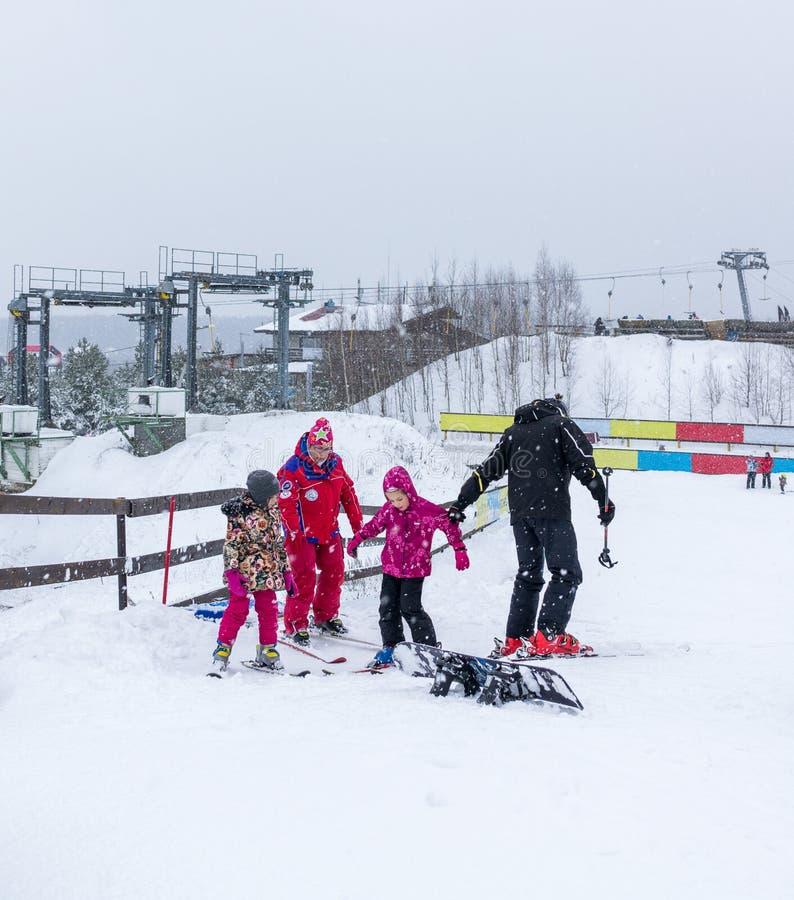 MOSCOW, RUSSIA: Ski club Leonid Tyagachev royalty free stock photography