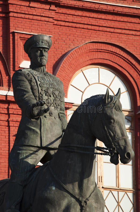 Moscow, Russia, public monument, monument to Marshal of the Soviet Union Zhukov stock photography