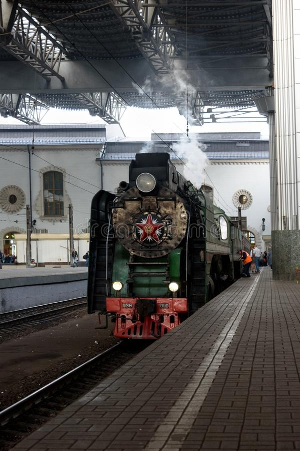 Moscow, Russian Federation - August 17, 2019: tours by train Moscow - Ryazan from the Kazan station. Preparing for departure stock photos