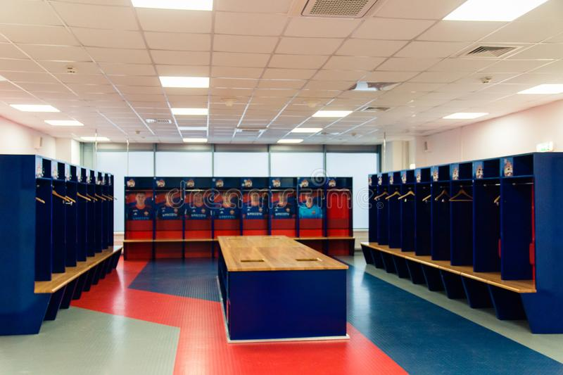 Moscow Russian Federation January 27 2018 Locker Room For CSKA