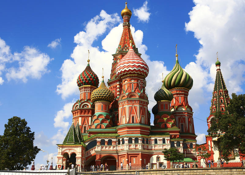 Moscow. Saint Basil`s Cathedral royalty free stock photography