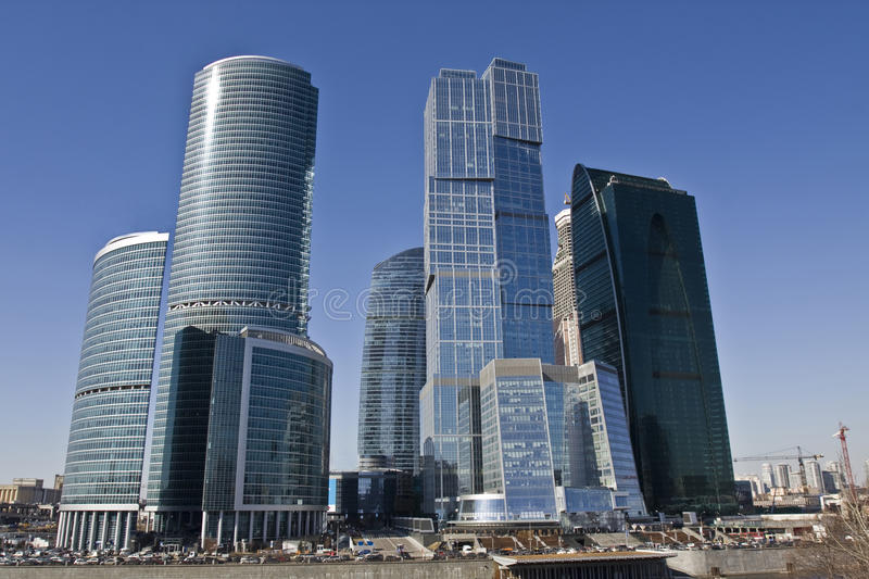 Moscow, Skyscrapers Stock Image