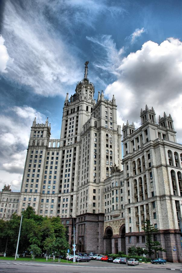 moscow skyskrapa royaltyfria bilder