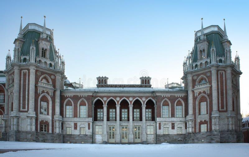 moscow slottrussia tsaritsyno arkivbild