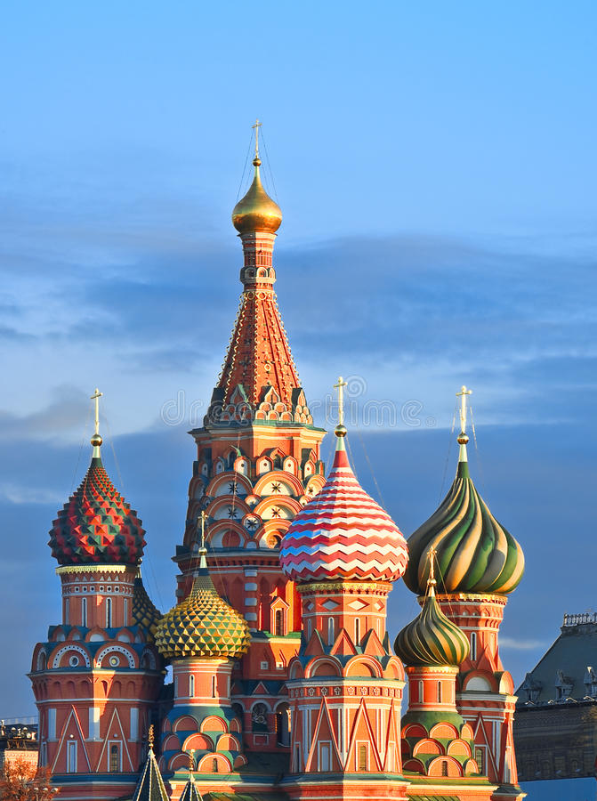 moscow soluppgång royaltyfria bilder