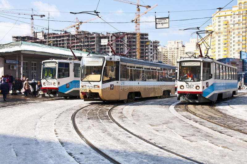 Download Moscow spårvagnar redaktionell bild. Bild av moscow, russia - 27278686