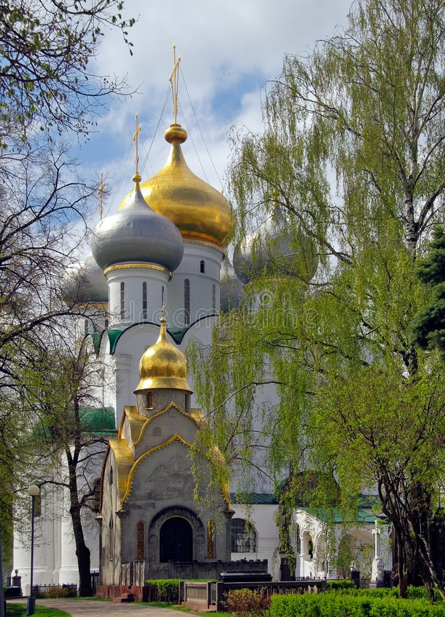 Moscow.Spring dans Novodevichij Monastyr image stock