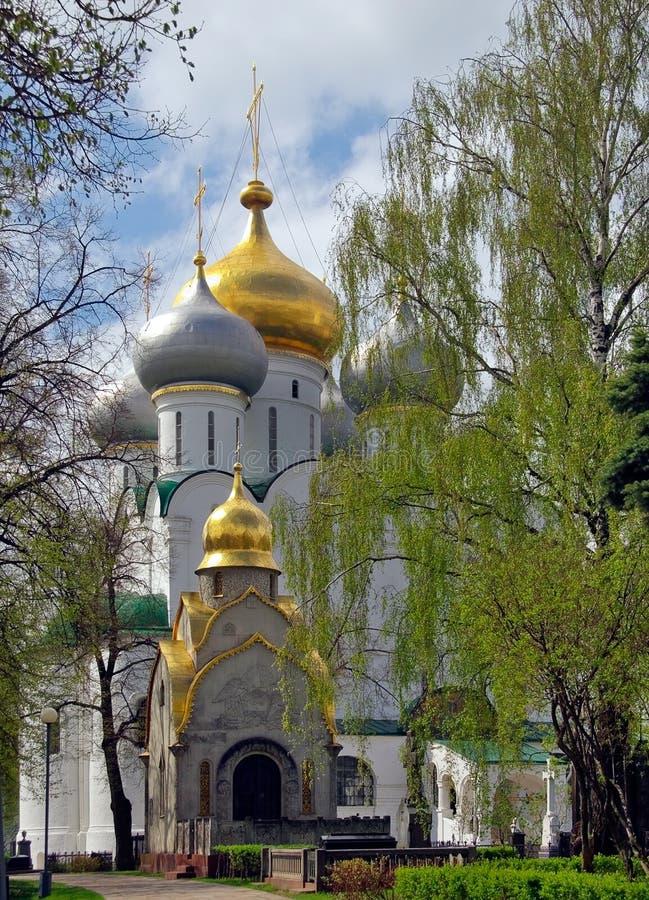 Moscow.Spring en Novodevichij Monastyr imagen de archivo