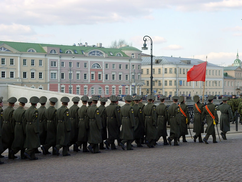moscow ståtar royaltyfri bild