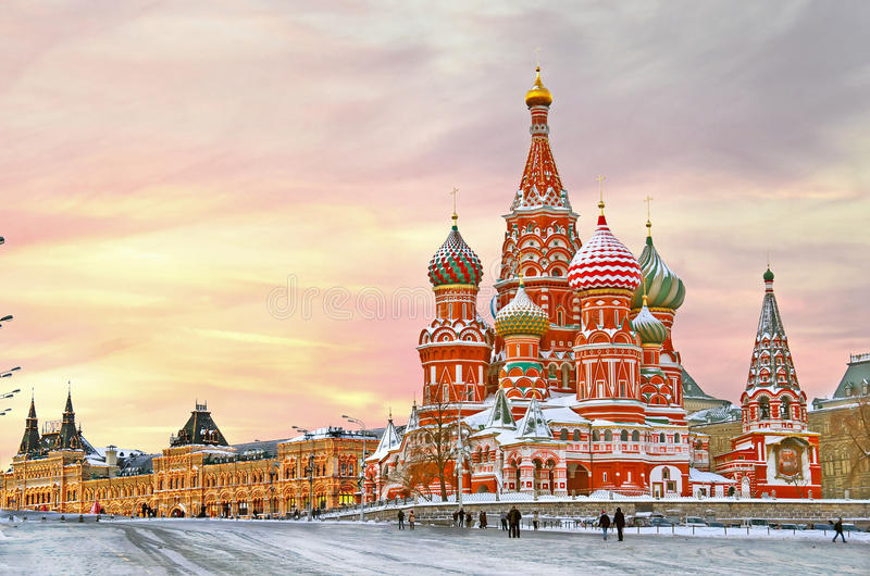 Moscow, St. Basil's Cathedral royalty free stock image