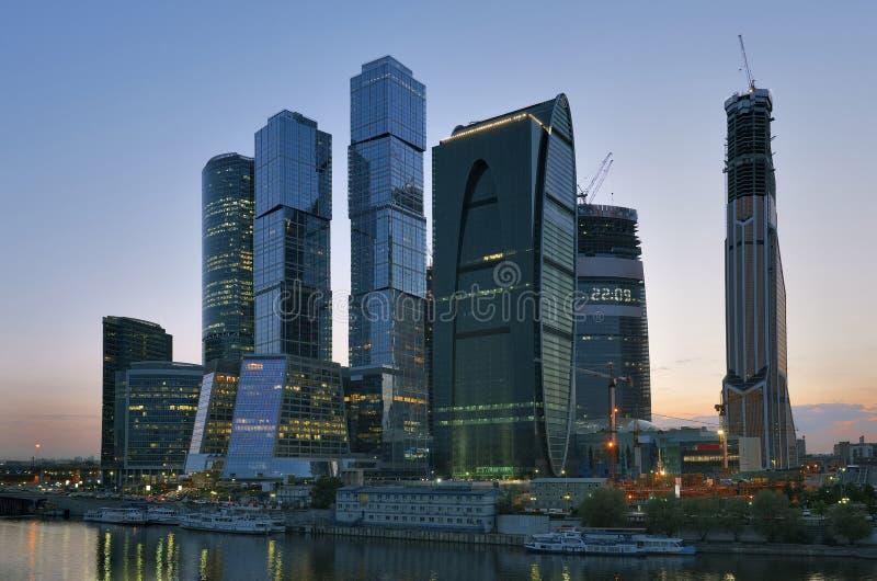 Moscow-Stad för affärsmitt arkivbild