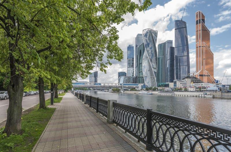 Moscow-Stad för affärsmitt royaltyfri fotografi