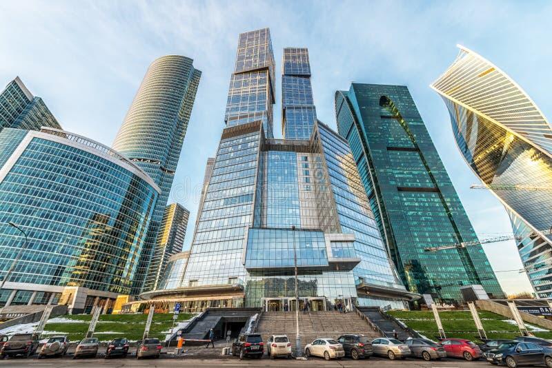 Moscow-Stad för affärsmitt royaltyfria bilder