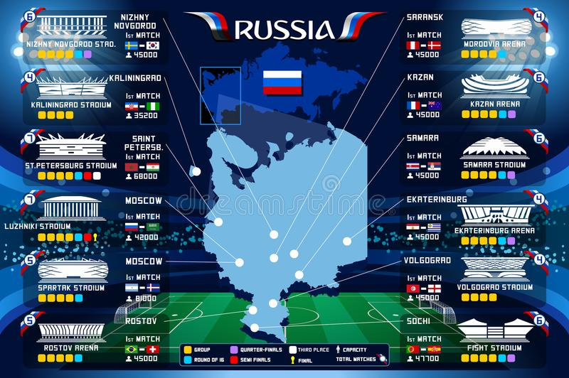 Moscow Stadium World Cup Vector stock illustration