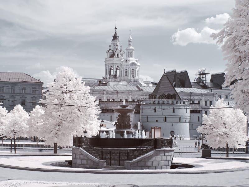 moscow stads- sikt arkivfoton