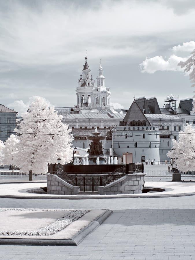 moscow stads- sikt arkivbild