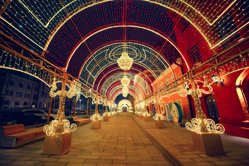 Moscow. Street near Lubyanka royalty free stock photography