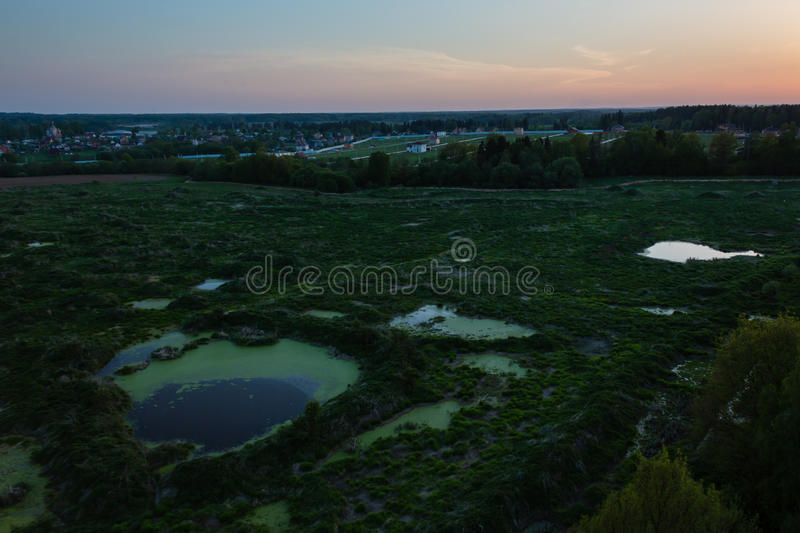 Moscow suburbs in evening. Moscow suburbs in the evening stock images