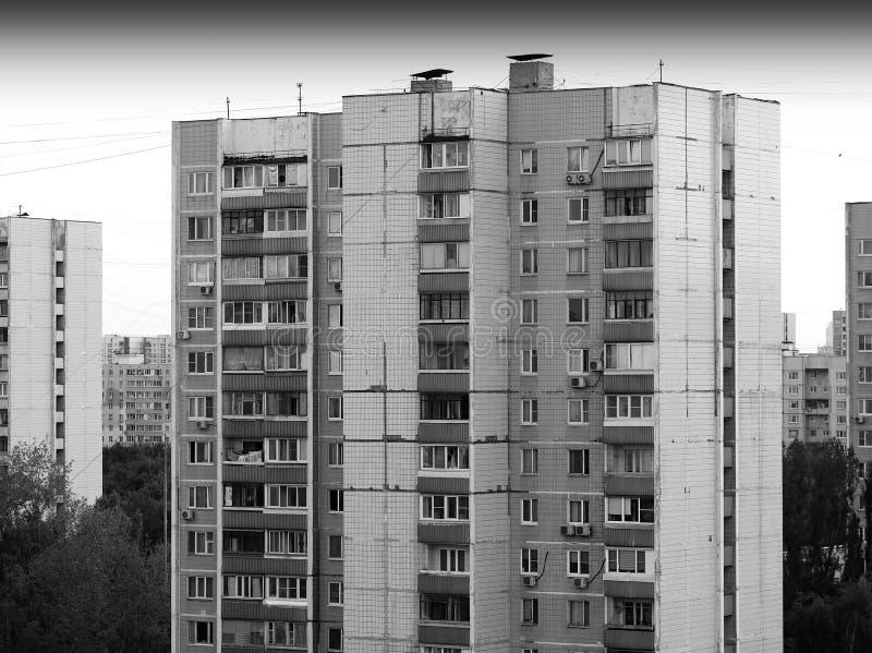 Moscow suburbs: USSR buildings. Vertical spacedrone808 orientation vivid vibrant black white bright rich composition design concept element object shape stock photo