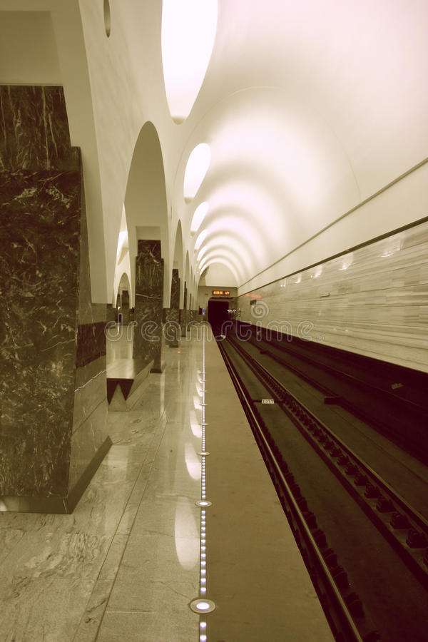 Download Moscow subway stock image. Image of columns, russia, station - 16658877