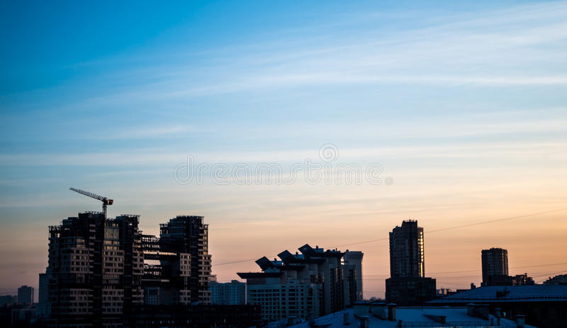 Moscow Sunset stock photo