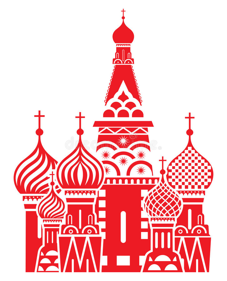 Moscow symbol - Saint Basils Cathedral, Russia royalty free illustration