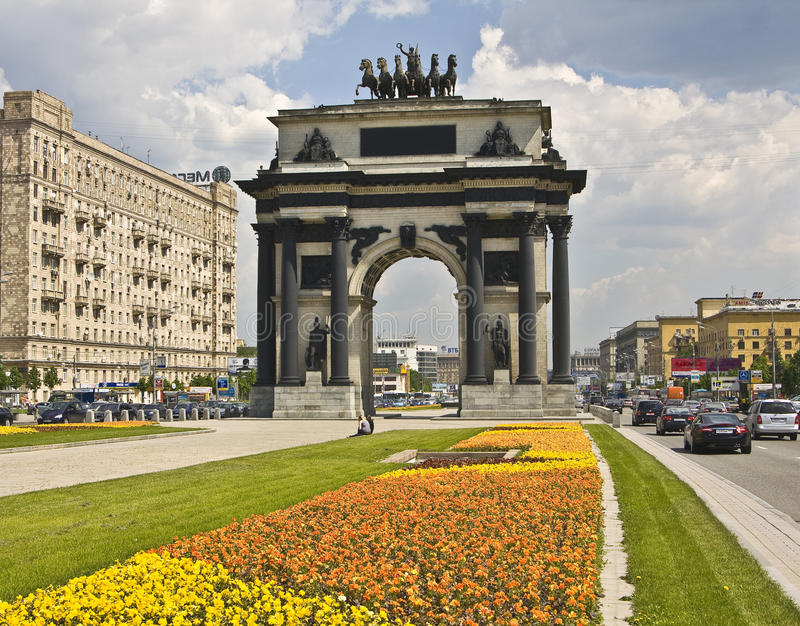 Download Moscow, Triumphal Arch Editorial Image - Image: 16016885