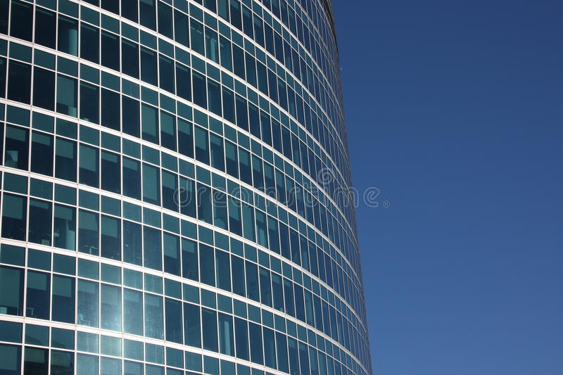 Moscow. The windows of a modern building. stock photography