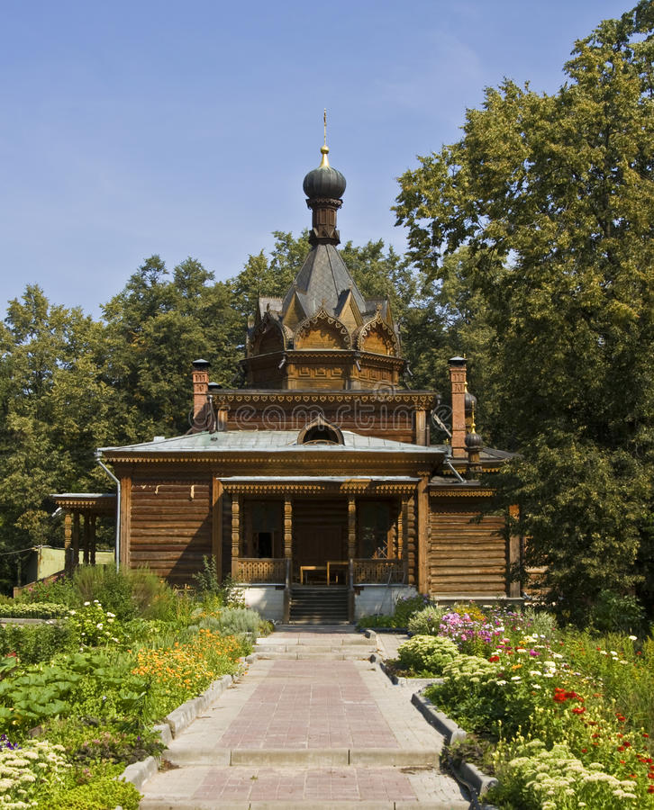 Moscow, wooden church royalty free stock image