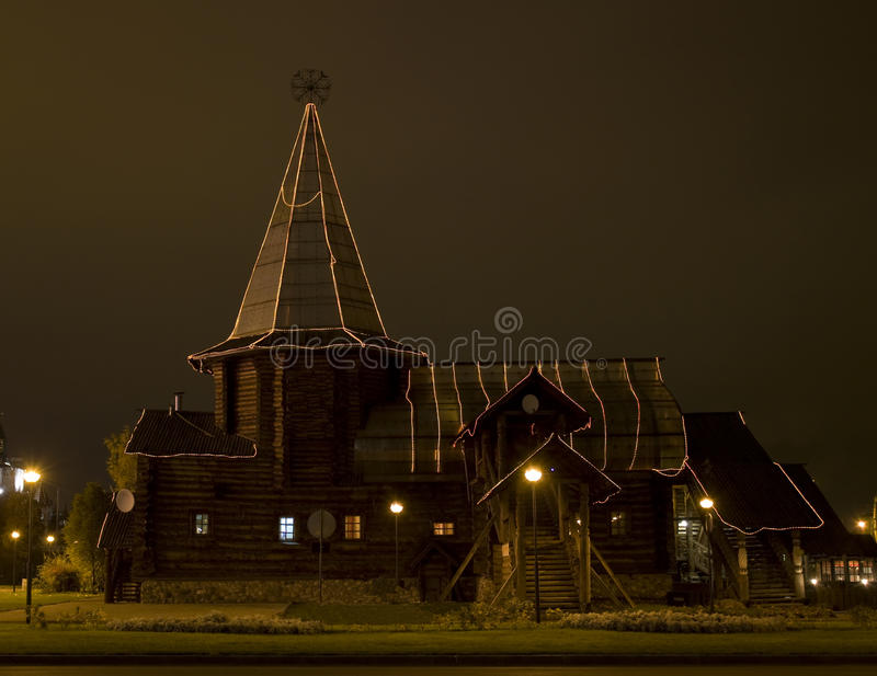 Moscow, wooden church royalty free stock photography