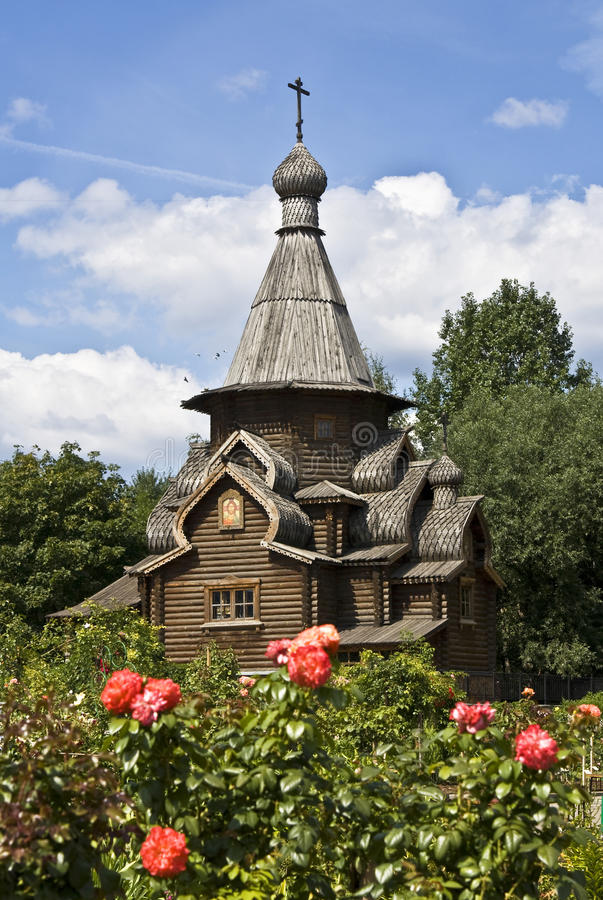 Moscow, wooden church of Saint Alexey royalty free stock photography