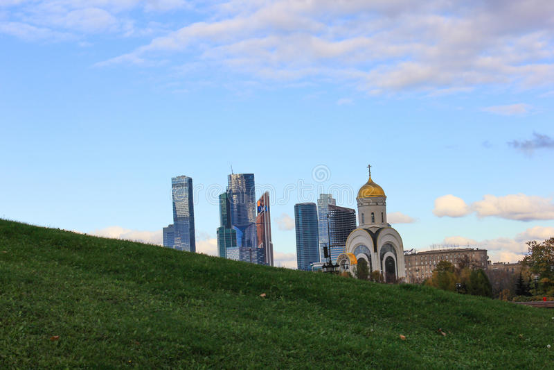 Moscowcity photographie stock libre de droits