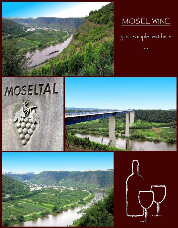 Mosel wina kolaż wizerunki od Moselle fotografia royalty free