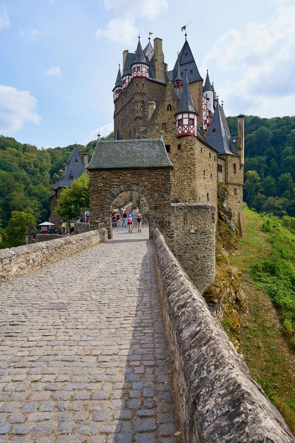 Fairy Tale Medieval Castle Burg Eltz in the Moselle Region of Germany royalty free stock photo