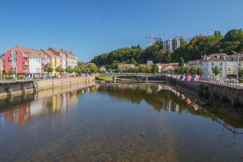 Moselle w Epinal obraz royalty free