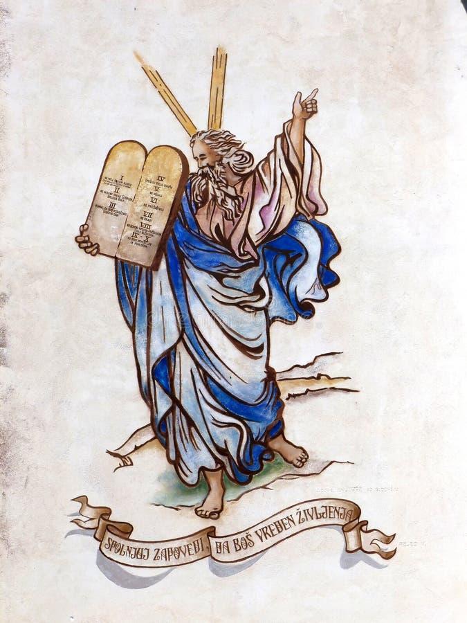 Moses stockbilder
