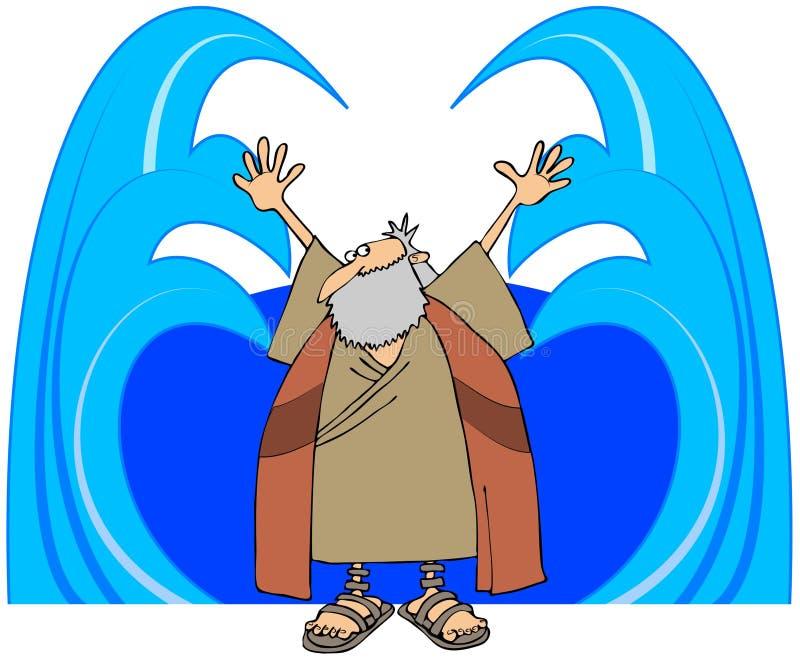 moses avskeds- vatten stock illustrationer